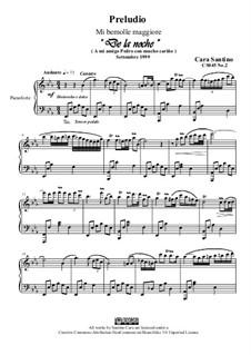Preludio No.2 in mi bemolle maggiore per piano, CS045 No.2: Preludio No.2 in mi bemolle maggiore per piano by Santino Cara