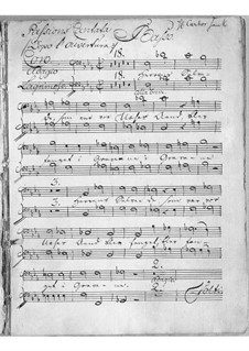 Sørge-Cantata: Bass part by Johann Adolph Scheibe
