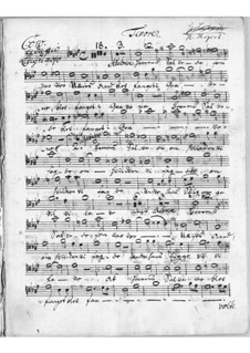 Sørge-Cantata: Tenor part by Johann Adolph Scheibe