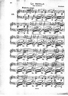 Die Forelle (The Trout), D.550 Op.32: Arrangement for piano by Franz Schubert