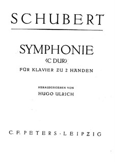 Symphony No.9 in C Major 'The Great', D.944: Arrangement for piano  by Franz Schubert