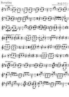 Three Sonatinas for Guitar, Op.80: Three Sonatinas for Guitar by Joseph Küffner