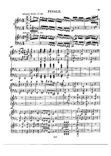 Symphony No.3 'Eroica', Op.55: Movement IV, for two pianos four hands by Ludwig van Beethoven