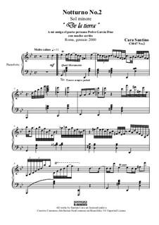 Notturno No.2 in sol minore per piano, CS047 No.2: Notturno No.2 in sol minore per piano by Santino Cara