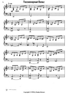 Passionary Waltz: Version for piano by Ruslan Moiseev