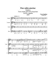 Púer nóbis náscitur. SATB a cappella, CS149 No.2: Púer nóbis náscitur. SATB a cappella by Santino Cara