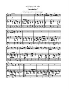 Sonata in C (Orgelfassung): Sonata in C (Orgelfassung) by Daniel Speer
