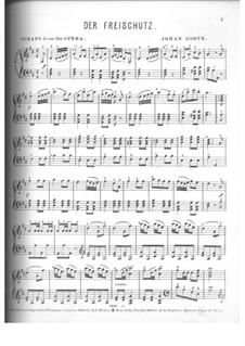 Fragments: For piano by Carl Maria von Weber