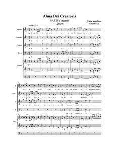 Alma Dei creatoris. SATB e organo, CS164 No.2: Alma Dei creatoris. SATB e organo by Santino Cara