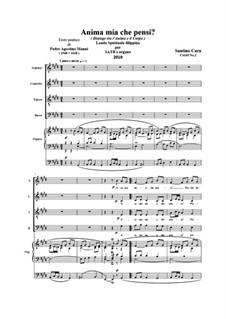 Anima mia, che pensi. SATB e organo, CS165 No.2: Anima mia, che pensi. SATB e organo by Santino Cara