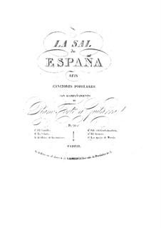 La sal de Espana: For voice, guitar and piano by Fernando Sor