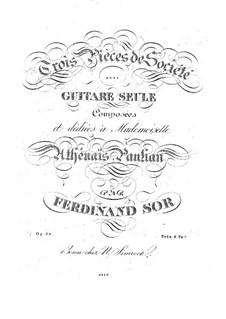 Three Pieces, Op.33: Complete set by Fernando Sor