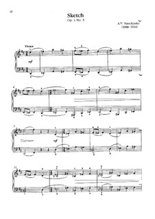 Twelve Sketches, Op.1: Sketch No.3 in D Major by Alexei Stanchinsky