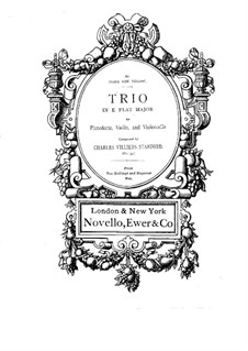 Piano Trio No.1 in E Flat Major, Op.35: Full score by Charles Villiers Stanford