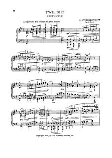 Twilight, Op.4 No.4: Twilight by Nikolai Shcherbachov
