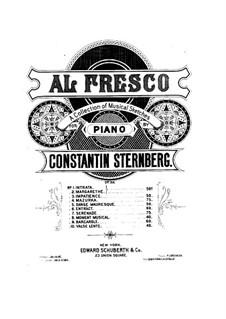 Al fresco, Op.22: No.9 Barcarolle by Constantin Sternberg
