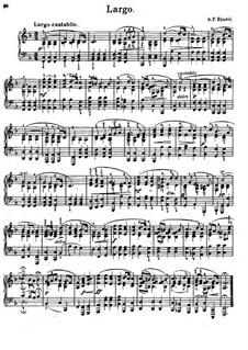 Largo: For piano (F Major) by Georg Friedrich Händel