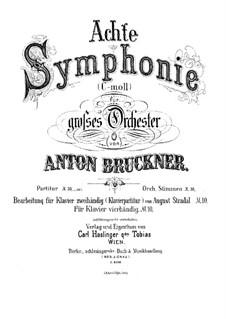 Symphony No.8 in C Minor, WAB 108: Movement I. Arrangement for piano by Anton Bruckner