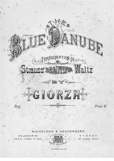 Concert Caprice on Waltz 'On the Beautiful Blue Danube' by J. Strauss: Concert Caprice on Waltz 'On the Beautiful Blue Danube' by J. Strauss by Paolo Giorza