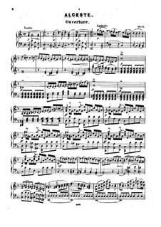 Alceste, Wq.44: Overture, for piano by Christoph Willibald Gluck