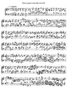 Mein junges Leben hat ein End', D.48: For organ by Jan Pieterszoon Sweelinck