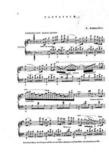 Fantasia, Op.31: Fantasia by Ernest Szemelényi