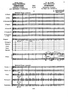 Symphony No.4, Op.60: Full score by Karol Szymanowski