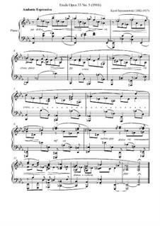Twelve Etudes, Op.33: Etude No.5 by Karol Szymanowski