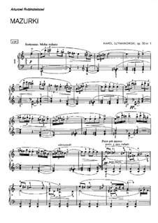 Mazurkas, Op.50, 62: Mazurkas by Karol Szymanowski
