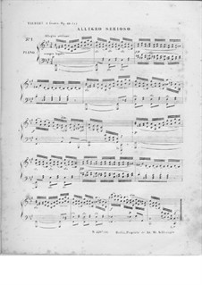 Two Etudes, Op.49: Two Etudes by Wilhelm Taubert