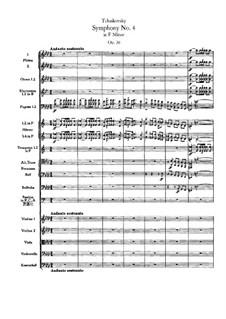Symphony No.4 in F Minor, TH 27 Op.36: Full score by Pyotr Tchaikovsky
