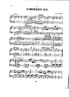 Symphony No.92 in G Major 'Oxford', Hob.I/92: Version for piano by Joseph Haydn