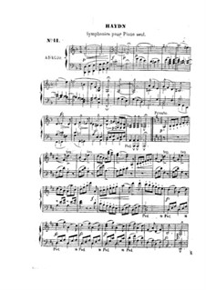 Symphony No.101 in D Major 'The Clock', Hob.I/101: Version for piano by Joseph Haydn