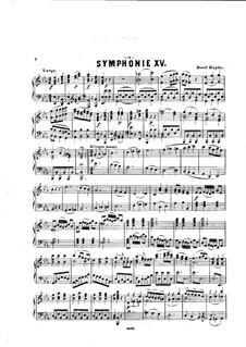 Symphony No.91 in E Flat Major, Hob.I/91: Version for piano by Joseph Haydn