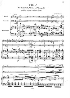 Symphony No.2, Op.36: Version for piano trio by Ludwig van Beethoven