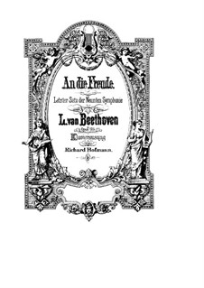 Movement IV: For soloists, choir and piano by Ludwig van Beethoven