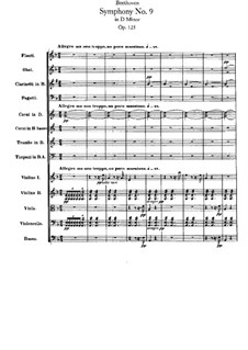Complete Symphony: Full score by Ludwig van Beethoven