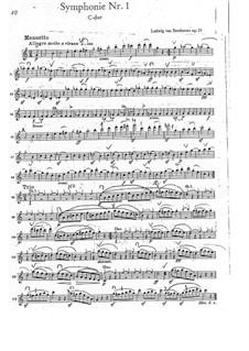 Fragments: Movements III-IV – violin I part by Ludwig van Beethoven