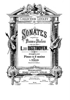 Sonata for Violin and Piano No.9 'Kreutzer', Op.47: Movement I. Version for piano by Ludwig van Beethoven