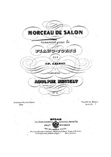 Morceau de salon, op.14: For piano by Adolf von Henselt