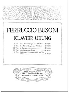 Eight Etudes after Cramer: For a single performer (First Edition) by Ferruccio Busoni