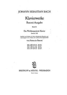 Selected Pieces: For piano, BWV 870-876 by Johann Sebastian Bach