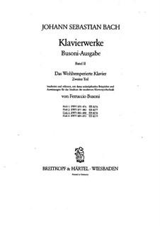 Selected Pieces: For piano, BWV 883-888 by Johann Sebastian Bach
