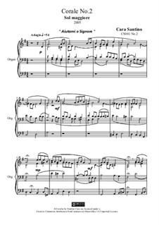 Choral in g major for organ, CS081 No.2: Choral in g major for organ by Santino Cara