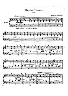 Douze études caractéristiques, Op.2: Etude No.4 'Repos d'amour' by Adolf von Henselt