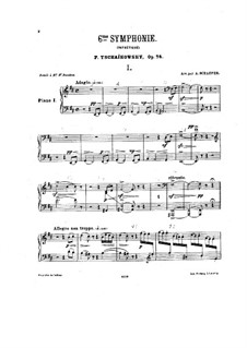 Movements I-II: Arrangement for two pianos – piano I part by Pyotr Tchaikovsky