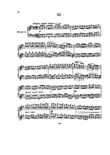 Movements III-IV: Arrangement for two pianos – piano I part by Pyotr Tchaikovsky