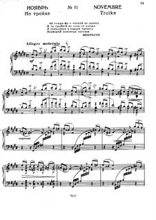 No.11 November (On the Troika): For piano by Pyotr Tchaikovsky