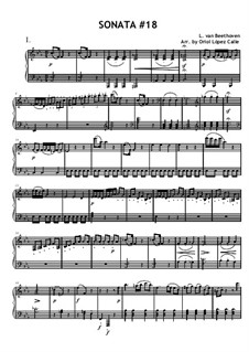 Sonata for Piano No.18 'The Hunt', Op.31 No.3: Movement I by Ludwig van Beethoven