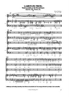 Lamentatio, Op.15: Tertia by Klaus Miehling